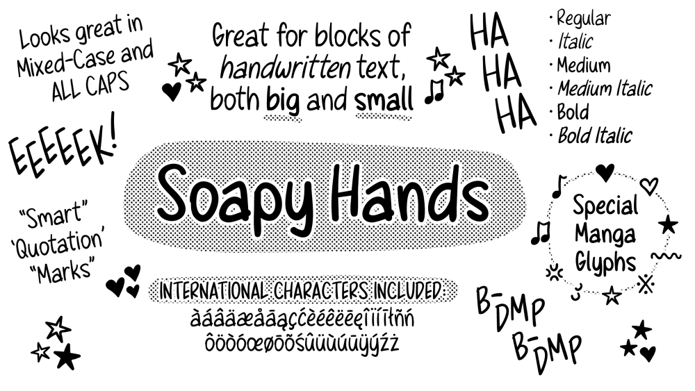 Soapy Hands Font