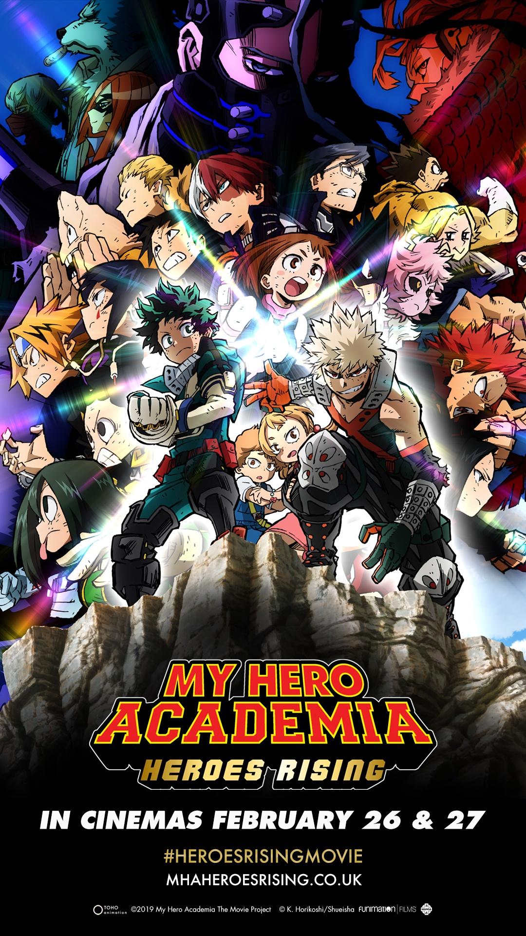 Otaku News My Hero Academia Heroes Rising Uk And Ireland Cinema Release Details