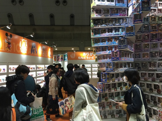 Anime Japan 2016 - Good Smile Company had a pyramid of Nendoroid figures! As well as a complete set in their cabinets.