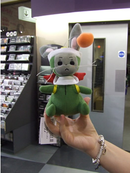FFXII UK Launch The Moogle plush toy given away to the first 100 people at the event.