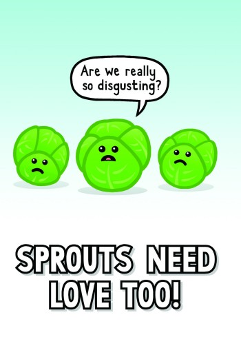 Genki Gear Christmas Cards 2011 - Sprouts need love too