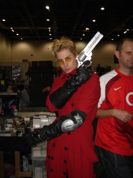Vash from Trigun cosplayer
