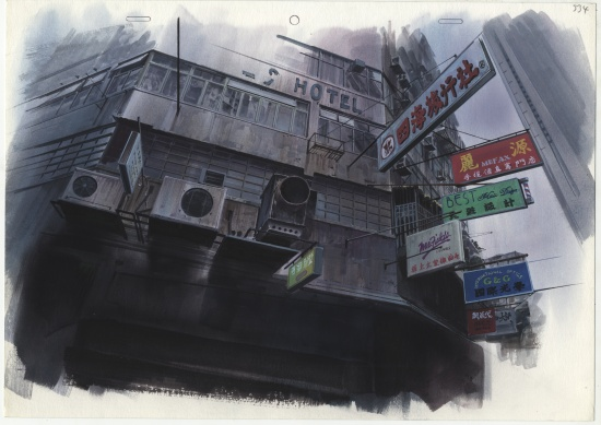 Ghost in the Shell background illustration cut 334