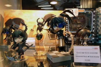 Black Rock Shooter Figures at the Goodsmile Stall