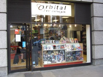 Orbital Manga shop front in London