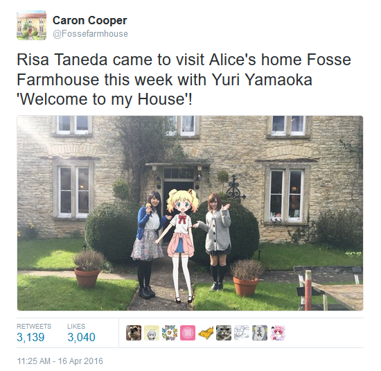 Risa and Yuri visiting Fosse Farm