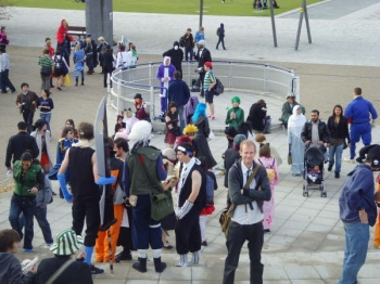 Cosplayers at the MCM London Expo
