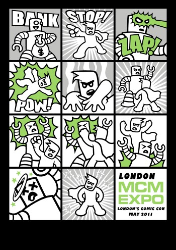 Genki Gear MCM Expo May 2011 T-Shirt Design - Comic Super Hero