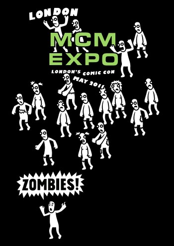 Genki Gear MCM Expo May 2011 T-Shirt Design - Zombies